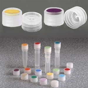Nalgene 11mm Caps for Micro Vials, HDPE with Optional Insert, case/1000