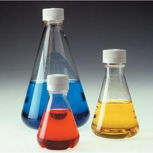 Nalgene Lab Flask, Sterile, Disposable, Vented Closure, PETG, 94oz (2800mL), case/4
