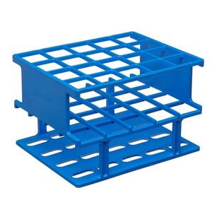 Nalgene Test Tube Half-Rack, Autoclavable Unwire, Blue, 25mm, case/8