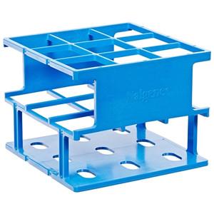 Nalgene Test Tube Half-Rack, Autoclavable Unwire, Blue, 30mm, case/8
