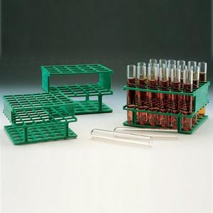 Nalgene Test Tube Half-Rack, Autoclavable Unwire, Green, 20mm, case/8