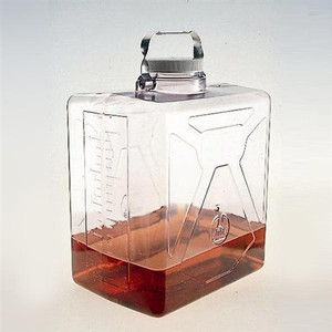 Nalgene ClearBoy Transparent Carboy, Rect, w/SS Handle, PC, 20L