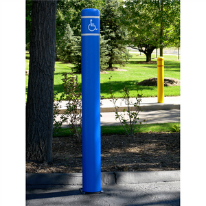 "Bollard Post Sleeve, 8-7/8"" x 72"", UV Fade Resistant, Choose Color"