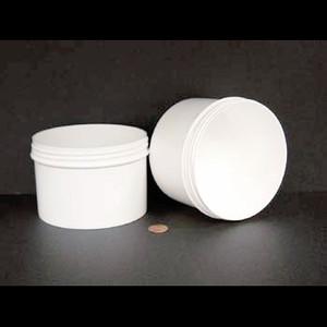 Bulk 24oz 120mm White Polypropylene Jars, 650mL (no caps), case/120
