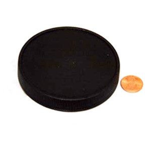 83mm (83-400) Black Polypropylene Heat Seal Lined Smooth Cap