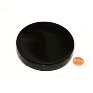 100mm (100-400) Black PP Pressure Sensitive Lined Smooth Cap