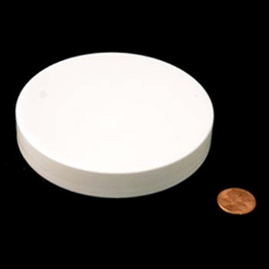 100mm (100-400) White PP Pressure Sensitive Lined Smooth Cap