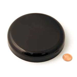 120mm (120-400) Black Polypropylene Heat Seal Lined Domed Cap