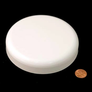 120mm (120-400) White Polypropylene Foam Lined Dome Cap