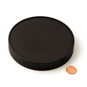 120mm (120-400) Black Polypropylene Unlined Ribbed Cap