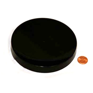 120mm (120-400) Black Polypropylene Unlined Smooth Cap