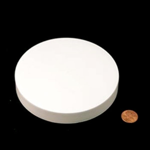 120mm (120-400) White Polypropylene Foam Lined Smooth Cap