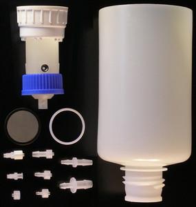 2 Liter Vacuum Funnel, Filter System, PP w/ Steel Vacuum Port