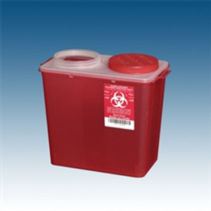 Sharps Container, 8 qt. Red Big Mouth, case/20