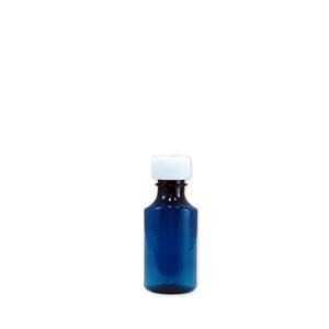 Oval Pharmacy Bottle, Blue, Graduated, Child-Resistant, 2oz, case/200