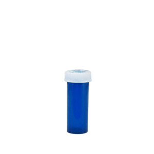 Economy Rx Blue Vials, Child-Resistant, Blue, 6 dram (22cc), case/600