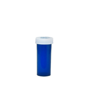 Economy Rx Blue Vials, Child-Resistant, Blue, 8 dram (30cc), case/410