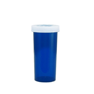 Economy Rx Blue Vials, Child-Resistant, Blue, 30 dram (120mL), case/240