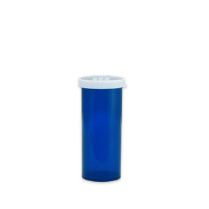 Economy Rx Blue Vials, Easy Snap-Caps, Blue, 16 dram (60cc) case/300