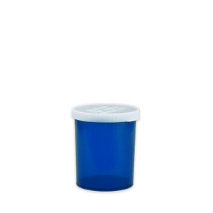 Economy Rx Blue Vials, Easy Snap-Caps, Blue, 20 dram (75cc) case/300