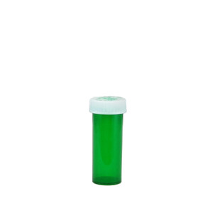 Economy Rx Green Vials, Child-Resistant, Green, 6 dram (22mL), case/600