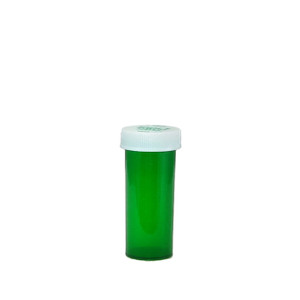 Economy Rx Green Vials, Child-Resistant, Green, 8 dram (30cc) case/410