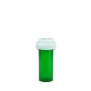 Economy Rx Green Vials, Child Resistant, Reversible, 8 dram (30mL), case/410