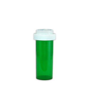 Economy Rx Green Vials, Child Resistant, Reversible, 16 dram (60mL), case/240