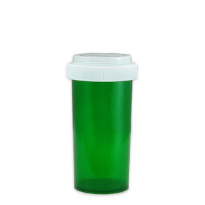 Economy Rx Green Vials, Child Resistant, Reversible, 40 dram (150mL), case/130