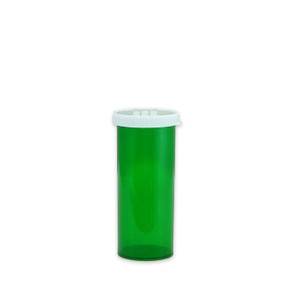 Economy Rx Green Vials, Easy Snap-Caps, Green, 16 dram (60cc) case/300