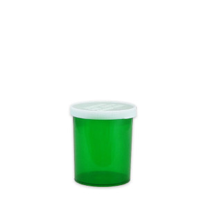 Economy Rx Green Vials, Easy Snap-Caps, Green, 20 dram (75cc) case/300