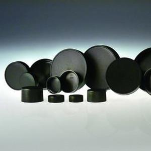 89-400 Black Ribbed Polypropylene unlined Cap