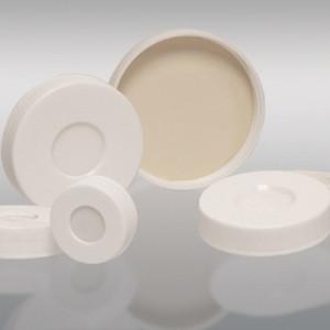 33-400 White Hole Cap, Bonded, PTFE/Silicone Septa