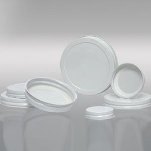 89-400 White Metal Cap, Plastisol Lined