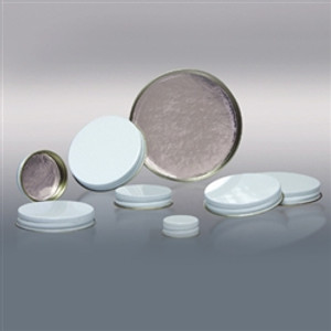 38-400 White Metal Cap, Aluminum Foil Lined