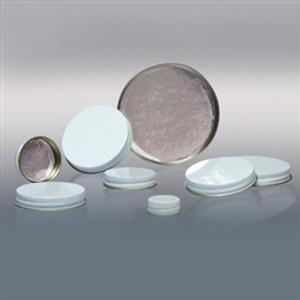 48-400 White Metal Cap, Aluminum Foil Lined