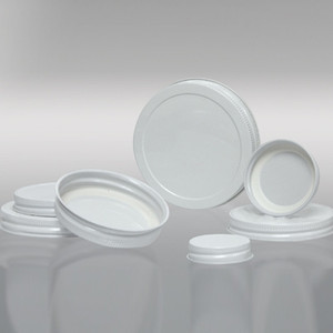 48-400 White Metal Cap, Plastisol Lined