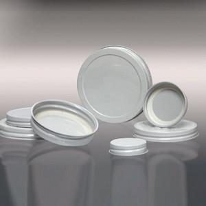 53-400 White Metal Cap, Plastisol Lined