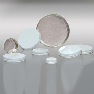 63-400 White Metal Cap, Aluminum Foil Lined