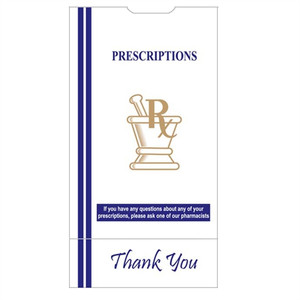"Pharmacy Bags, 7""x5""x14"" for Prescription Medication, case/500"