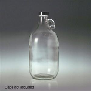 Glass Jug, 2 Liter (64 oz) Clear, No Caps, case/6