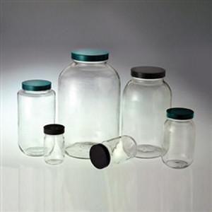 Wide Mouth Glass Bottle, 4 Liter (128oz) Vinyl Lined Cap, case/4