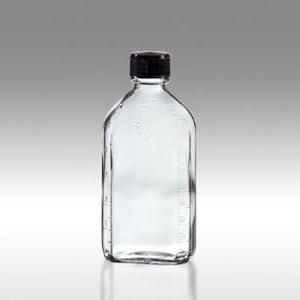 Oval Glass Pharmacy Bottle, Vinyl Lined Caps, 6oz, case/48