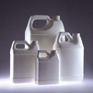 White HDPE, F-Style Jug, 128oz, 38-400 neck finish, jug only, case/6