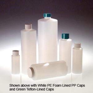 HDPE, Cylinder Bottle, 28-400 White Foam Lined Cap, 32oz, case/12