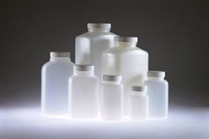 HDPE, Wide Mouth Oblong, 250mL, 43-400 White Foam Lined Cap, case/48