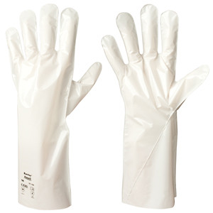 Ansell Barrier Gloves, Chemical Resistant Flat-Film, 12 Pair