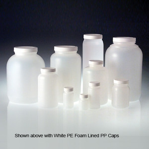HDPE, Wide Mouth Round Bottle, 63-400 Unlined-Caps, 950mL, case/72