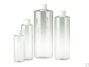 Clear PVC Cylinder, 20-410 White Foam Lined Cap, 4oz, case/559