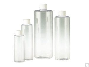 Clear PVC Cylinder, 24-410 White Foam Lined Cap, 8oz, case/489